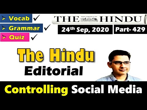 The Hindu Editorial Today || English Newspaper Reading || The Hindu Newspaper Sep 24, 2020