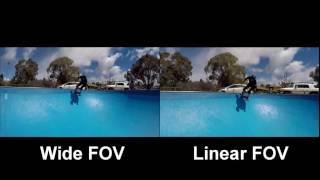 Video New Version 5.0 Firmware for GoPro HERO4 -  Linear FOV vs WIDE FOV Comparison MP3, 3GP, MP4, WEBM, AVI, FLV Juli 2018
