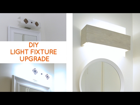 Bathroom lighting quick fix to update a dated bathroom for Quick fix bathroom ideas