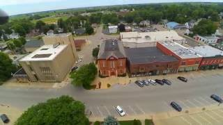 Sandwich (IL) United States  city images : Drone Flight over downtown Sandwich Illinois