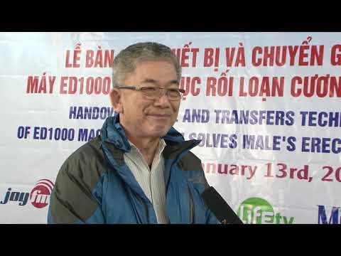Ông Charlie Tân – giám đốc Charles Wembley Asia nói về ED1000 tại buổi lễ chuyển giao công nghệ