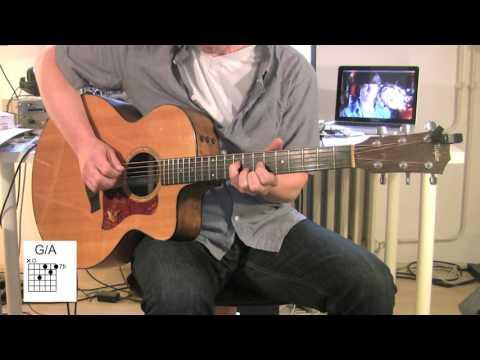 Yellow Acoustic Guitar Original Vocal Track Chord Diagrams How