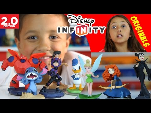 2.0 - Mike, Lex & Chase unbox all Originals for Disney Infinity 2.0! Except Jasmine as she is not out yet. They also see the Skylanders High Five Frito Lay chips t...