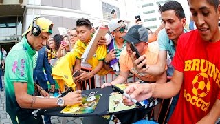Torcedores vibram com Neymar, neymar, neymar Barcelona,  Barcelona, chung ket cup c1, Barcelona juventus
