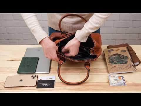 Обзор кожаной женской сумки флотар Vintage 14875 видео