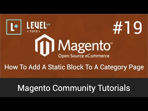 Magento Tutorials 19: How To Add A Static Block To A Category Page