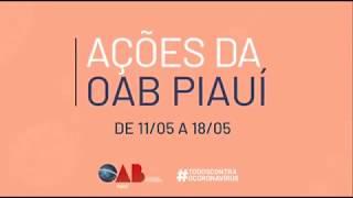 Ações da OAB Piauí de 19/05 a 25/05