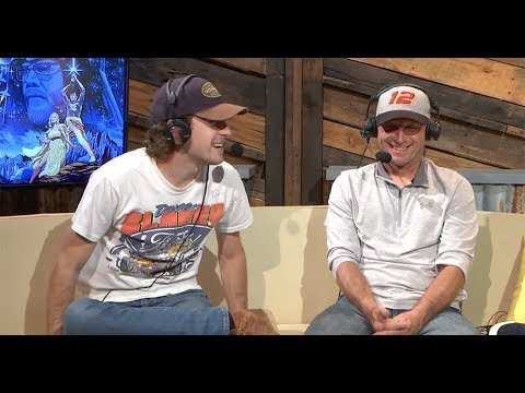 Ryan Blaney analyzes spotting skills with his dad