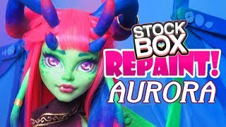 Repaint! Aurora Dragon Custom Monster High Venus Doll