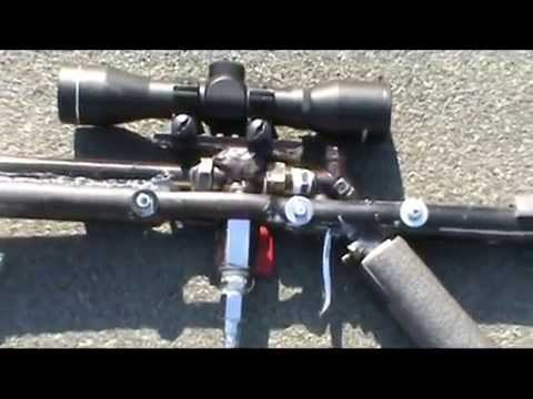 Homemade semi automatic airgun (bb airsoft sniper rifle)