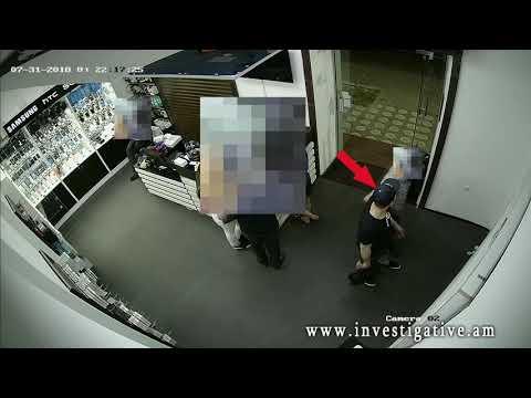 Փնտրվում է համակարգչային խանութից գողություն կատարած անձը. տեսանյութ