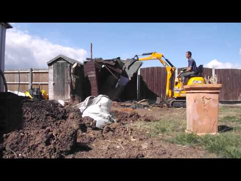 Video D.M.S Micro Digger Hire. Removal of a garden shed with JCB 8008 download in MP3, 3GP, MP4, WEBM, AVI, FLV January 2017