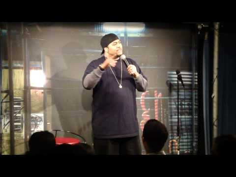 L.A. Comic Shang on stage at Laugh Lounge NYC
