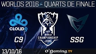 C9 vs SSG - World Championship 2016 - Playoffs - Quarts de finale