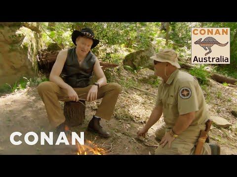 Conan Learns How To Survive In The Australian Bush - CONAN on TBS