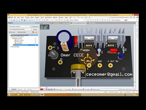 Altium Designer Tutorial: Schematic, PCB library and PCB Project 5 Hours