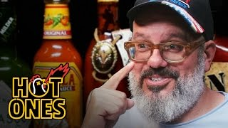 Video David Cross Embraces the Extremes of Spicy Wings | Hot Ones MP3, 3GP, MP4, WEBM, AVI, FLV Juli 2018