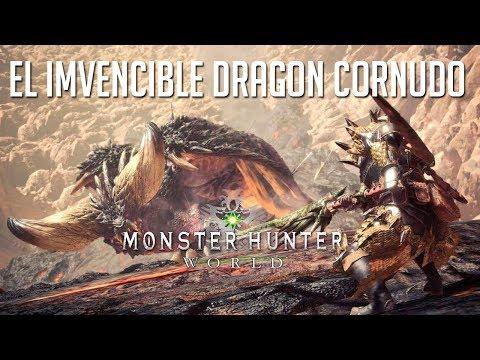 EL INVENCIBLE DRAGON CORNUDO   MONSTER HUNTER WORLD BETA 3