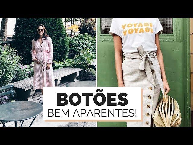 BOTÕES FRONTAIS EM VESTIDO E SAIA | TENDÊNCIA VERÃO 2018:2019 - Closet da Mari