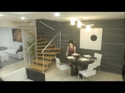 Planos casas 5x20 metros videos videos relacionados for Pisos interiores de casas modernas