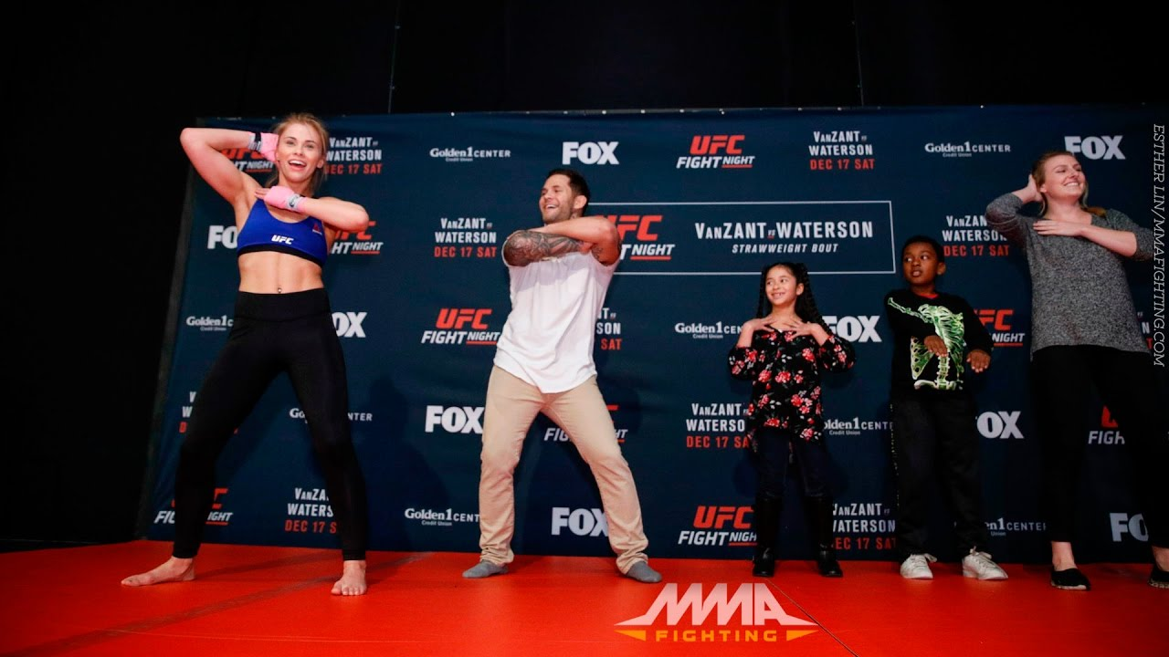 Paige VanZant Has Dance Contest at UFC on FOX 22 Workouts