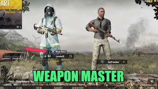 How To Get Weapon Master | Solo Vs Squad | PUBG Mobile