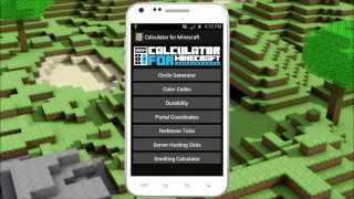Calculator for Minecraft YouTube video