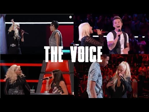 CHRISTINA AGUILERA SINGING WITH CONTESTANT ON THE VOICE (Blind Auditions Only)