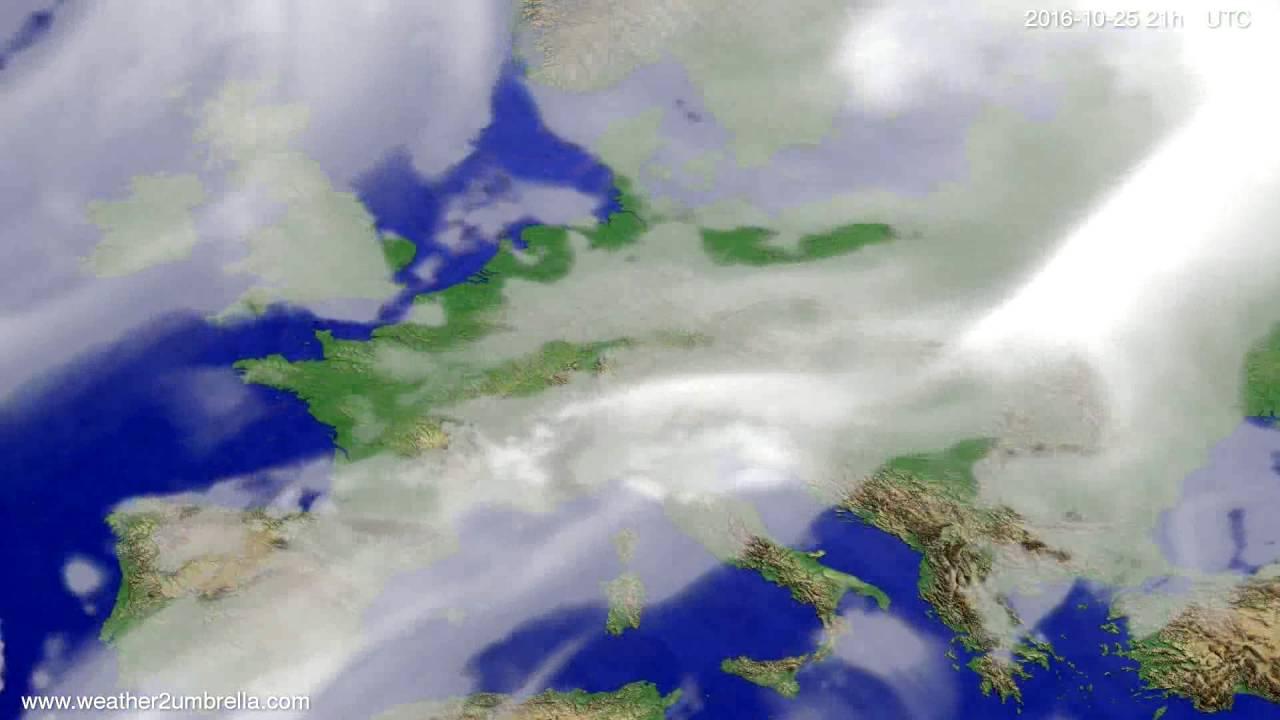 Cloud forecast Europe 2016-10-22