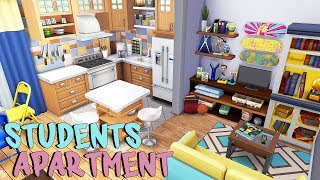 STUDENTS APARTMENT 📚🎨💻   The Sims 4   Apartment Renovation Speed Build