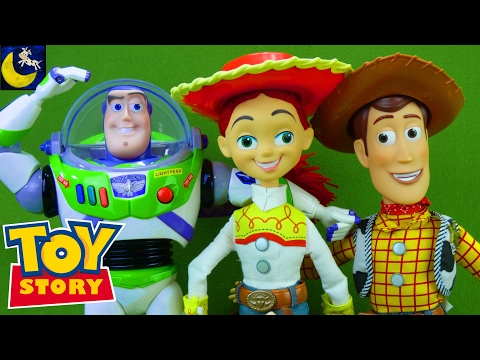 Toy Story Toys 1 2 3 Collection Video Buzz Lightyear Jessie Bullseye Woody Doll 2017 Disney Toys!