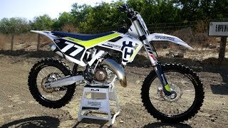 10. First Ride 2017 Husqvarna TC125 2 Stroke - Motocross Action Magazine