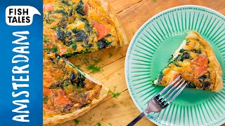 Two-Type SALMON Quiche | Bart van Olphen by Bart's Fish Tales