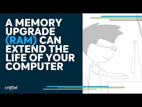 A memory upgrade can extend the life of your computer