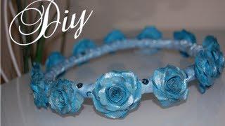 DIY Flower Crown (paper flowers) - YouTube