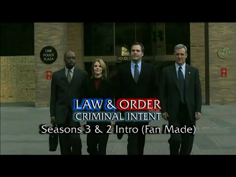Law & Order: Criminal Intent: Seasons 3 & 2 Intro (Fan Made)