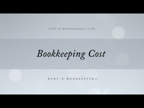 Bookkeeping Cost | Bookkeeping Rates | 2013