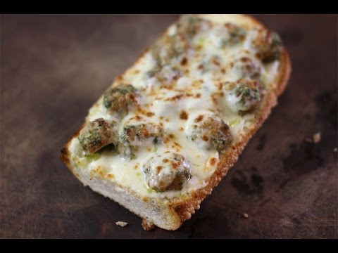 Meatball & Pesto French Bread Pizza | SAM THE COOKING GUY