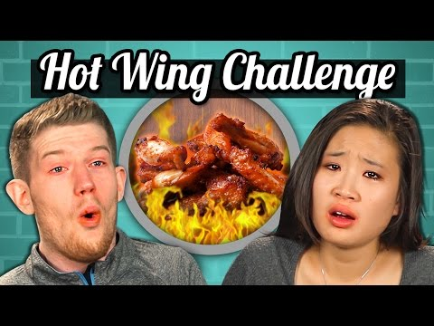 ADULTS vs. FOOD - HOT WINGS CHALLENGE