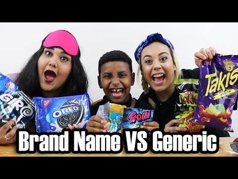 Brand Name VS Generic Challenge!! (funny af)