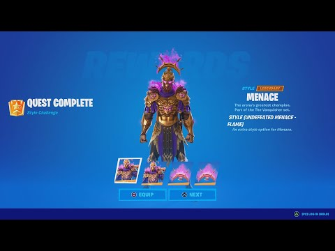 NEW Menace Skin Style Review & Gameplay (Undefeated Menace - Flame Style)