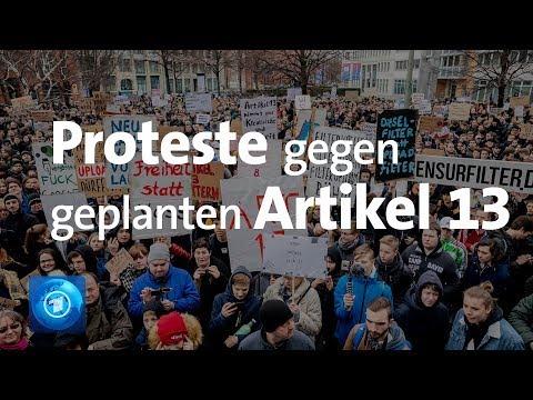 Artikel 13: Anhaltender Protest gegen Uploadfilter und geplante EU-Urheberrechtsreform