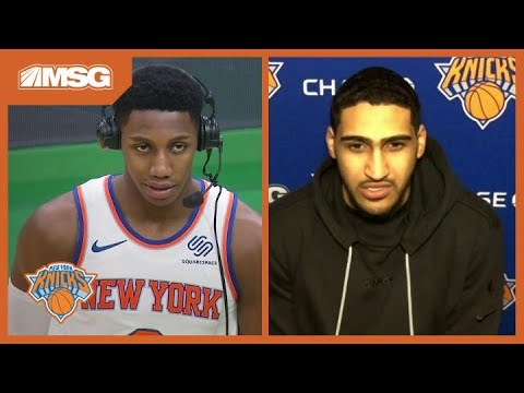 RJ Barrett & Obi Toppin Are Confident Knicks Can Continue To Play Like They Did in Boston