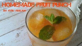Ingredients :1 Papaya1 Melon2 Pineapple600 ml mixed fruit juice1000 ml Sprite2 tbs Orange SyrupLiquid Sugar (if needed)1/2 tsp Citric Acid