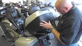 9. BMW K1600GTL Top Case Removal Instructions