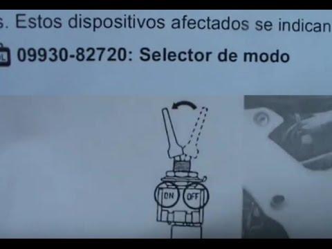 """SUZUKI. Cómo poner en modo taller y construir por 3€ el útil 09930-82720 """"Selector de modo"""""""