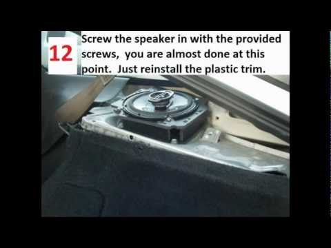 How To Replace Rear Speakers In A Nissan 240sx or 180sx Hatchback