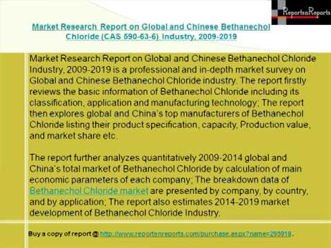 Global and Chinese Bethanechol Chloride CAS 590 63 6 Industry, 2009 2019