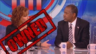 Ben Carson OWNS The View's Joy Behar and Whoopi Goldberg on The View! - Ben Carson and Joy Behar