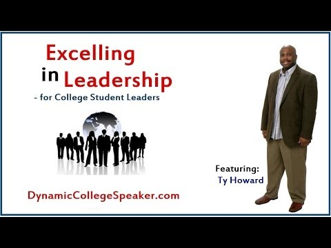 College Speakers - http://www.dynamiccollegespeaker.com Influence: The Heart of Leadership - Featuring Ty Howard. Leadership Speakers for College Students. Motivational Speaker...